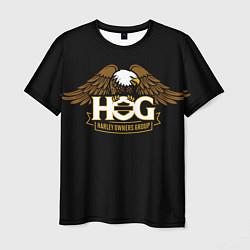 Футболка мужская HOG, Harley-Davidson цвета 3D — фото 1