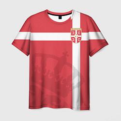 Футболка мужская Сборная Сербии цвета 3D-принт — фото 1