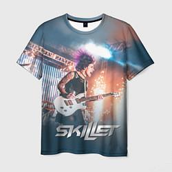 Мужская 3D-футболка с принтом Skillet: Korey Cooper, цвет: 3D, артикул: 10142757703301 — фото 1