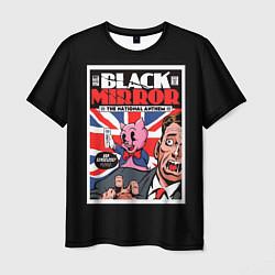 Футболка мужская Black Mirror: Pig Poster цвета 3D — фото 1
