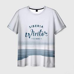 Футболка мужская Siberia Winter цвета 3D — фото 1