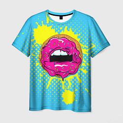 Футболка мужская Donut Lips цвета 3D — фото 1