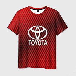Футболка мужская Toyota: Red Carbon цвета 3D — фото 1