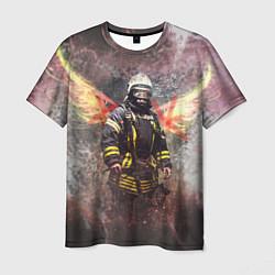 Футболка мужская Пожарный ангел цвета 3D-принт — фото 1
