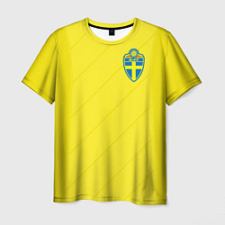 Футболка мужская Сборная Швеции: Домашняя ЧМ-2018 цвета 3D — фото 1