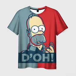 Футболка мужская Homer Simpson DOH! цвета 3D — фото 1