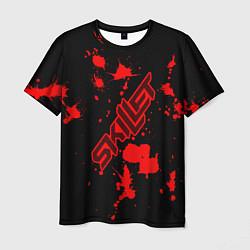 Мужская 3D-футболка с принтом Skillet: Blood Style, цвет: 3D, артикул: 10154967703301 — фото 1
