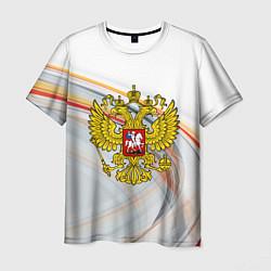 Футболка мужская Россия необъятная цвета 3D — фото 1