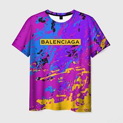 Футболка мужская Balenciaga: Neon Fashion цвета 3D — фото 1
