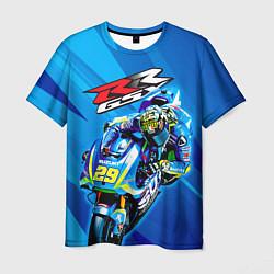 Футболка мужская Suzuki MotoGP цвета 3D — фото 1