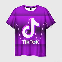 Мужская 3D-футболка с принтом TIKTOK, цвет: 3D, артикул: 10206728303301 — фото 1