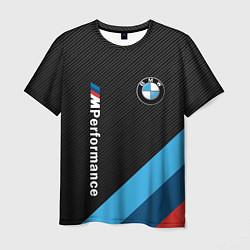 Мужская 3D-футболка с принтом BMW M PERFORMANCE, цвет: 3D, артикул: 10211877303301 — фото 1