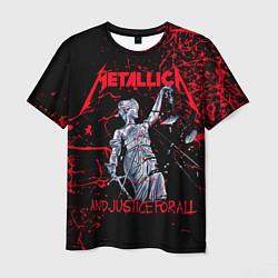 Футболка мужская Metallica цвета 3D-принт — фото 1