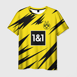 Футболка мужская HAALAND Borussia Dortmund цвета 3D-принт — фото 1