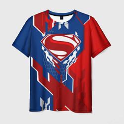 Футболка мужская Знак Супермен цвета 3D-принт — фото 1
