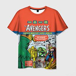 Мужская 3D-футболка с принтом Мстители - the AVENGERS 1 1963, цвет: 3D, артикул: 10282792503301 — фото 1