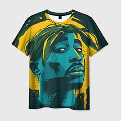 Мужская 3D-футболка с принтом 2Pac Shakur, цвет: 3D, артикул: 10070929703301 — фото 1