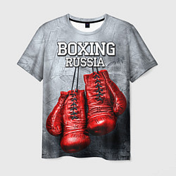 Футболка мужская Boxing Russia цвета 3D — фото 1