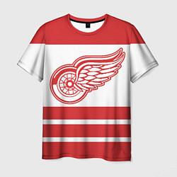 Футболка мужская Detroit Red Wings цвета 3D-принт — фото 1