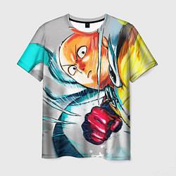 Мужская 3D-футболка с принтом One Punch Man Rage, цвет: 3D, артикул: 10084994903301 — фото 1