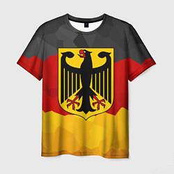 Футболка мужская Германия: герб цвета 3D-принт — фото 1