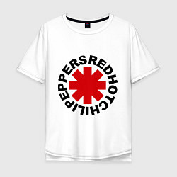 Футболка оверсайз мужская Red Hot Chili Peppers цвета белый — фото 1