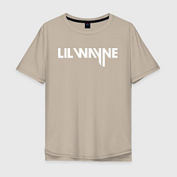 Футболка оверсайз мужская Lil Wayne цвета миндальный — фото 1
