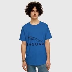 Футболка оверсайз мужская Jaguar цвета синий — фото 2