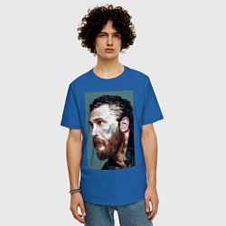 Футболка оверсайз мужская Том Харди Ван Гога цвета синий — фото 2