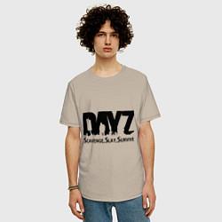 Футболка оверсайз мужская DayZ: Slay Survive цвета миндальный — фото 2