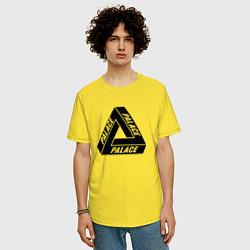 Футболка оверсайз мужская Palace Triangle цвета желтый — фото 2