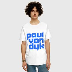 Футболка оверсайз мужская Paul van Dyk: Filled цвета белый — фото 2