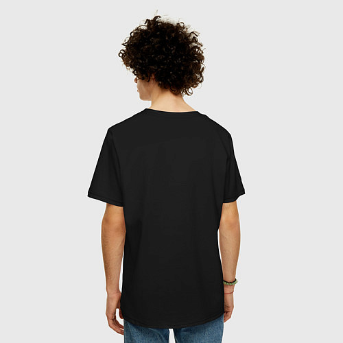 Мужская футболка оверсайз Godzilla Poster / Черный – фото 4
