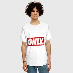 Футболка оверсайз мужская Only Obey цвета белый — фото 2