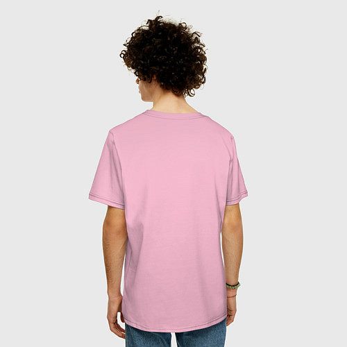 Мужская футболка оверсайз I am married / Светло-розовый – фото 4