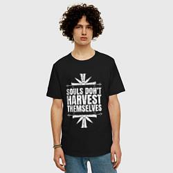 Футболка оверсайз мужская Harvest Themselves цвета черный — фото 2