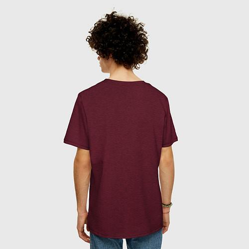 Мужская футболка оверсайз The Beatles Revolution / Меланж-бордовый – фото 4