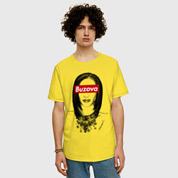 Футболка оверсайз мужская Buzova Supreme цвета желтый — фото 2