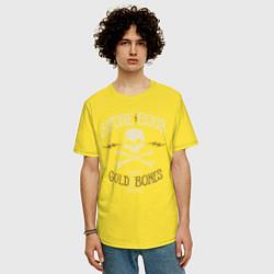 Футболка оверсайз мужская Stone Sour: Gold Bones цвета желтый — фото 2