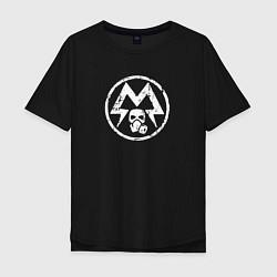 Футболка оверсайз мужская Metro: Sparta Warriors цвета черный — фото 1