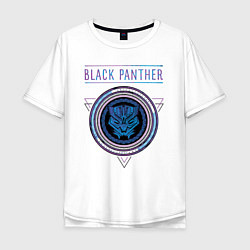 Футболка оверсайз мужская Черная пантера цвета белый — фото 1