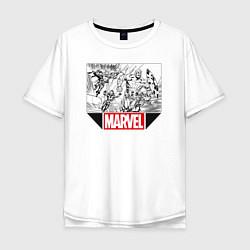 Футболка оверсайз мужская Marvel Prod цвета белый — фото 1