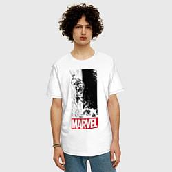 Футболка оверсайз мужская Iron Man: Marvel цвета белый — фото 2