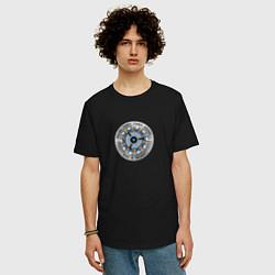 Мужская удлиненная футболка с принтом Iron Man, цвет: черный, артикул: 10184422105753 — фото 2