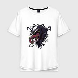 Футболка оверсайз мужская Venom цвета белый — фото 1