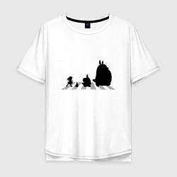 Футболка длинная мужская Totoro Beatles - фото 1