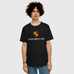 Футболка оверсайз мужская PORSCHE цвета черный — фото 2