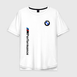 Футболка оверсайз мужская BMW M PERFORMANCE 2020 цвета белый — фото 1