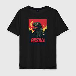 Футболка длинная мужская Godzilla - фото 1