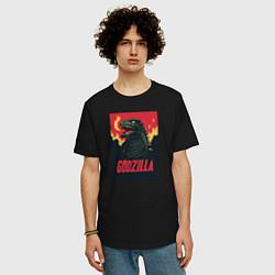 Футболка оверсайз мужская Godzilla цвета черный — фото 2